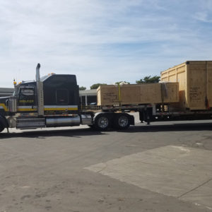 trulaser3040 crate on truck